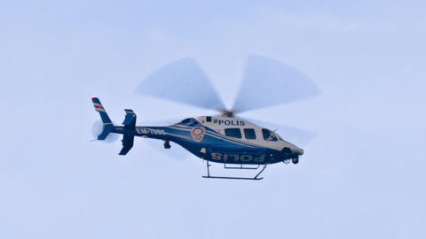 Police helicopter spying Footage