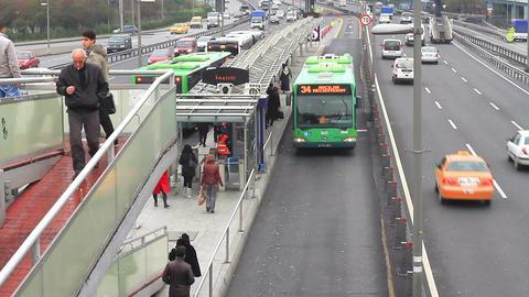 Metrobus line in Istanbul Footage
