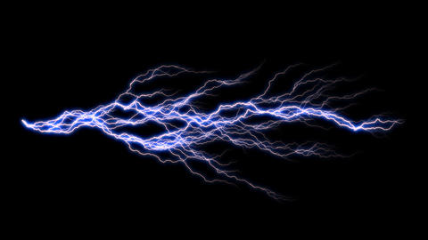 Rich Electric Arc 1 Alpha stock footage