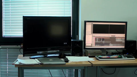 Video Editing Office, Slow Pan, New, Media, Techno Live Action