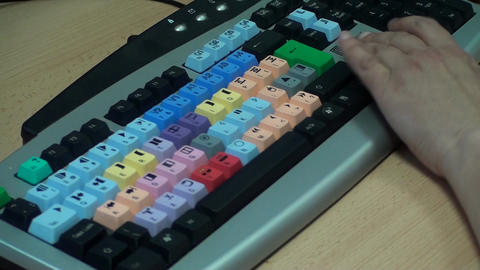 Video Editing Keyboard, Editor Working, Hand Detai Live Action
