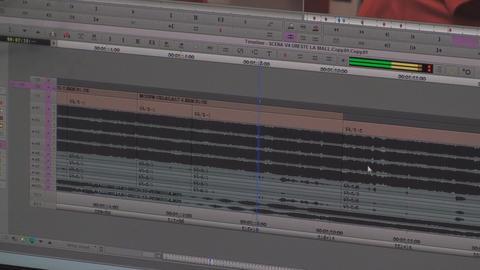 Video Editing Timeline Lot Of Audio Tracks, Media, Footage