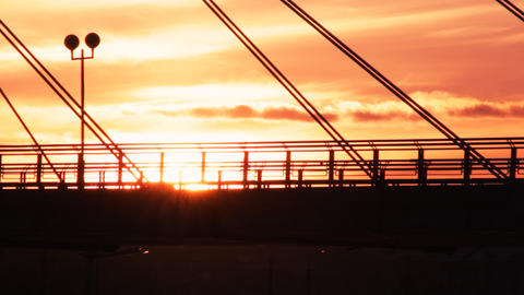 City Sunset Footage