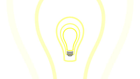 Pulsing Light Bulb Idea Concept Animation