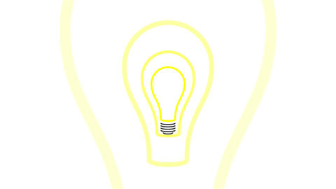 Pulsing Light Bulb Idea Concept Stock Video Footage