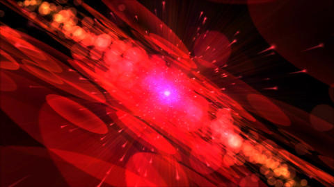 Abstract Particle Light Animation - Red Animation