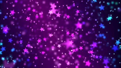 Star Particle Background - Loop Purple Animation
