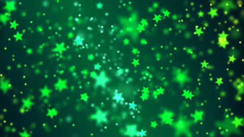 Star Particle Background - Loop Green Animation