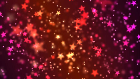 Star Particle Background - Loop Red/Pink Animation