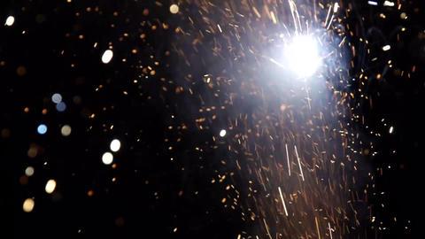 Firework sparks slow motion ビデオ