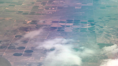 Flying over crops Live Action
