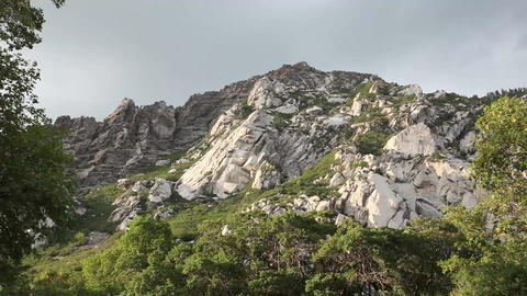 Granite rocks wide shot Footage