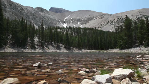 Great Basin National Park Lake stock footage