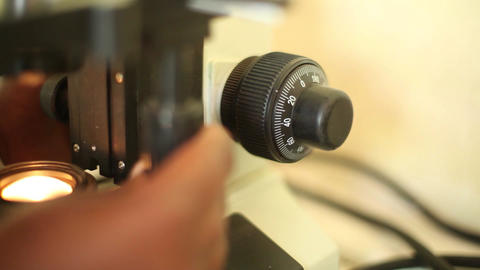 Microscope Tight stock footage