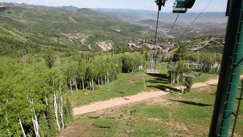 Park City From Ski Lift stock footage