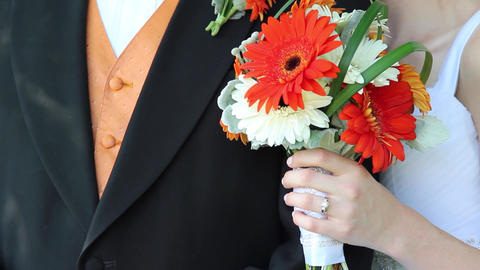 Orange Bouquet stock footage