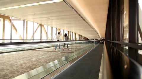 Airport walkway Footage