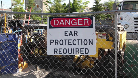 Danger ear protection required Footage