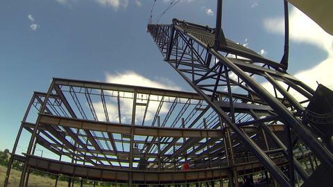 Construction time lapse Live Action