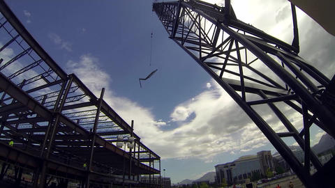 Construction time lapse crane Footage