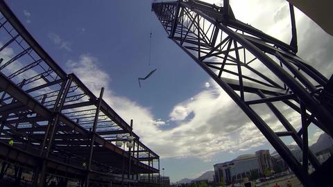 Construction time lapse crane Live Action