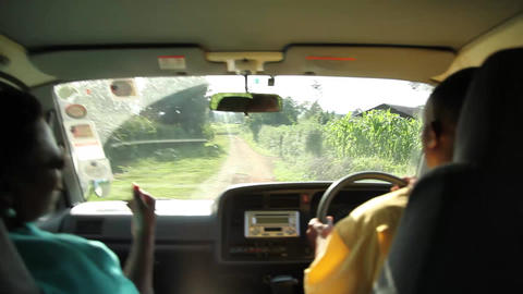 Driving bumpy road Kenya Footage