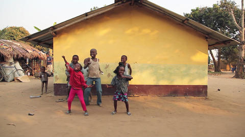 Dancing kids wide_Bwe, Democratic Republic of Cong Footage