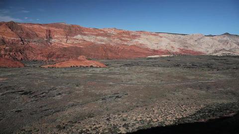 Desert Canyon Car Driving Tilt stock footage