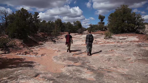 Dry stream bed walking Footage