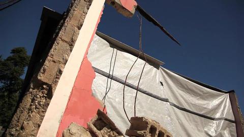 Earthquake Haiti Rubble Pull Out stock footage