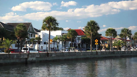 St. Augustine Street Tight stock footage