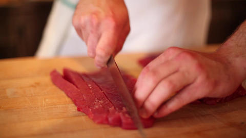 Sushi ahi cut Footage