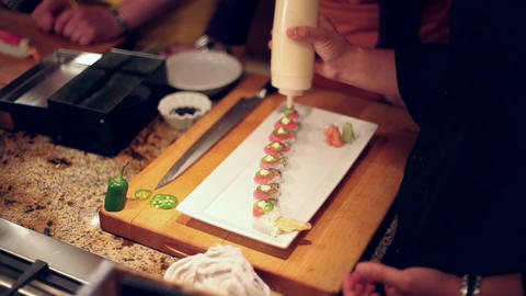 Sushi finishing touches Live Action