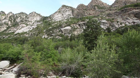 Tilt to dry riverbed Footage