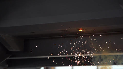 Welding sparks super slow motion Footage
