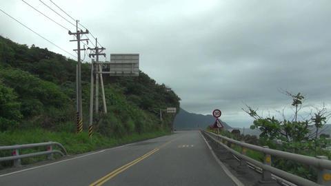 driving on the Coastline road Footage