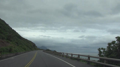 driving on the coast road Footage