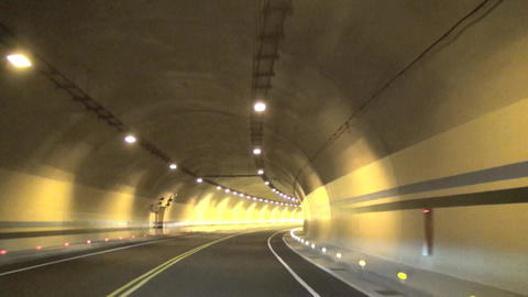 driving through the tunnel Footage