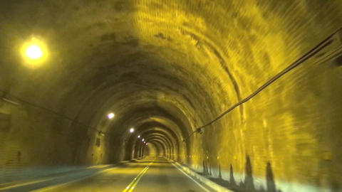 Driving fast through the tunnel Footage