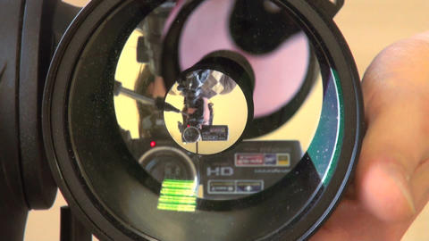 Astronomer configures the telescope Footage
