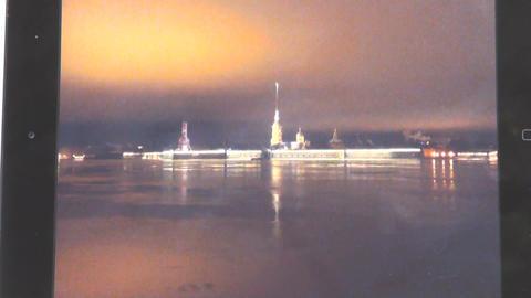 The falling of a huge meteorite in Petersburg Footage