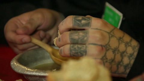 Tattoos on his arms convict Footage