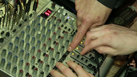 panel for a sound recording Footage