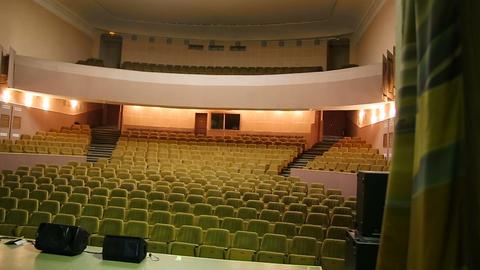 Empty cinema room with balcony Footage
