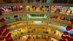 Kuala Lumpur Petronas Tower Shopping Mall, Time-la stock footage