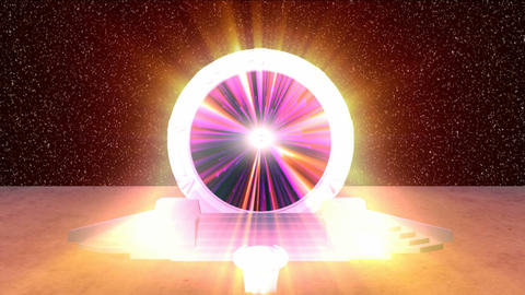 Cosmic Stargate into another Dimension HD Animation