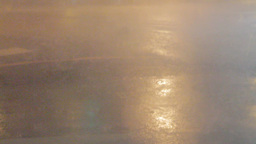 Typhoon Rain and Wind on Street Footage