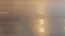 Typhoon Rain and Wind on Street Live Action