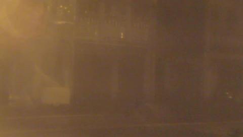 Typhoon blowing debris around Footage