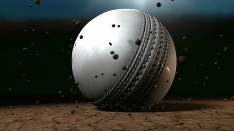 cricket ball white hitting pitch Live Action